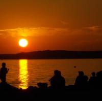 západ slunce u moře