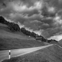 Silnice u Obersaxen