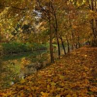 ...podzimní hráz Baťova kanálu...