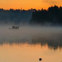 Svítání na přehradě