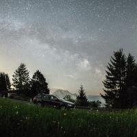 Mléčná dráha nad Gmundenem