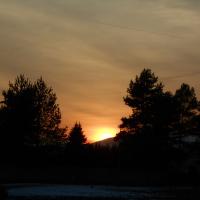 Februárový západ slnka