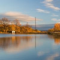 Poslední světlo u Hůreckého rybníka ...