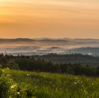 Západ Slunce nad Polskem