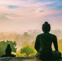 Buddha se dívá