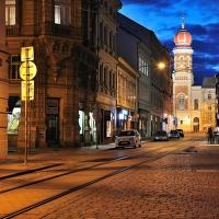 Prešovská ulice se synagogou