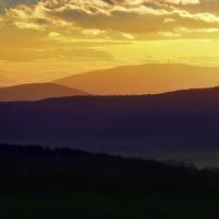 Západ Slunce nad Šumavou
