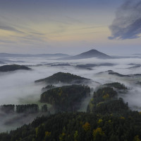 Ranní mlhy Českého Švýcarska