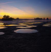 Ráno Bezručův rybník