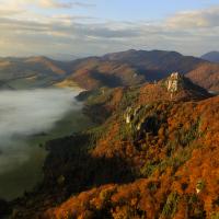 Podzimní ráno na Súlovských skalách