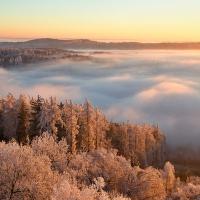 zimní ráno na Babecu