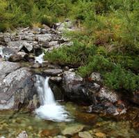 vodopádek v Západních Tatrách