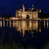 Schwerin pozdně večerní