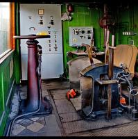 kabína strojníka+těžní stroj