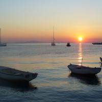 Západ Slunce z ostrova Pag