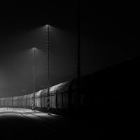 Noční štramberské nádraží