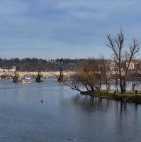 Panorama z mostu Legií