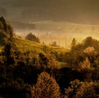 ŠUMAVSKÉ RÁNO I. Svítání v Kašperských horách.