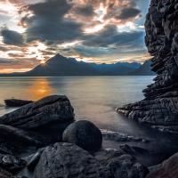 Začátek noci, Algoll, Isle of Skye, Skotsko