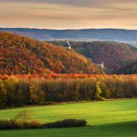 Podzimní krajinka u Karlštejnu