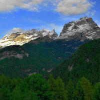 Navečer v pohoří Brenta