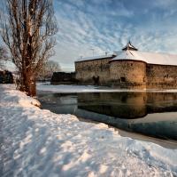 Zima u vodního hradu Švihov