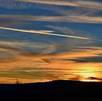 zimní barevný západ slunce 2