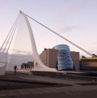Dublin Absurd Drama Bus + Samuel Beckett Bridge