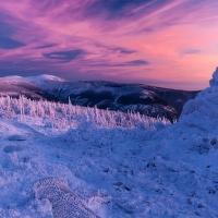 ...a v horách tančí modrá s purpurovou