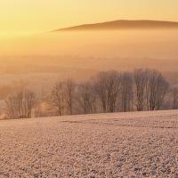 Svítání mrazivého rána