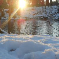 Žiariaci sneh