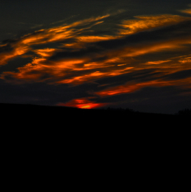 Temný západ slunce
