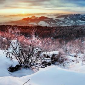 svítání na Děčínském Sněžníku II