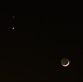 Výjimečné setkání - Měsíc, Venuše a Mars