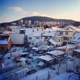 Bystrcké zimní panorama