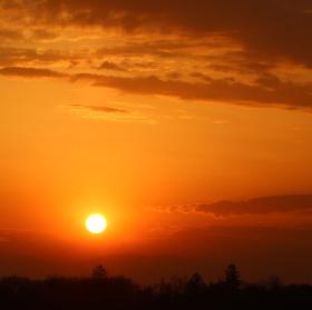 Východ slunce.