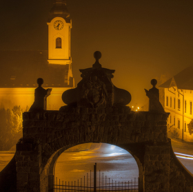 Vesnice v mlze