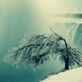 Zimní pohled na Niagara falls