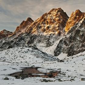 Svítání ve Vysokých Tatrách...
