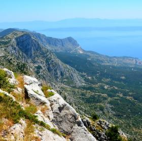 Vyhlídka po cestě na Sveti Jure(1 762 m) - Chorvatsko