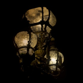 noční osvětlení pont Alexander