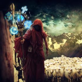 Lidi a jejich pastýř.