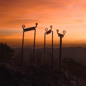 Východ slunce na Vraní skále