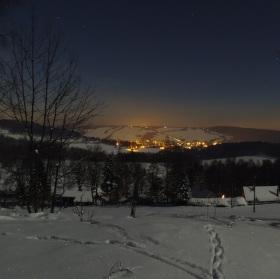 Večerní pohled na Dolní Podluží