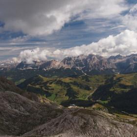Panoramata v Italských Dolomitech.