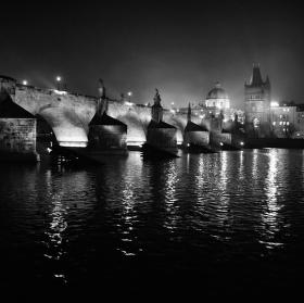 Večerní Praha - Karlův most