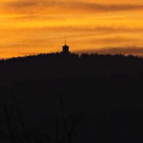 Prosincový podvečer v Lázních Kynžvart