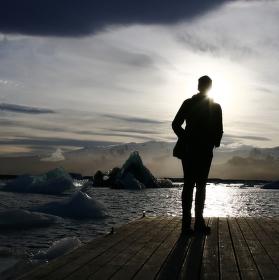 vzácné slunce na Islandu