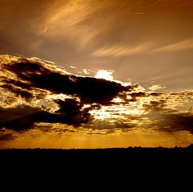 Západ slunce u Kolína