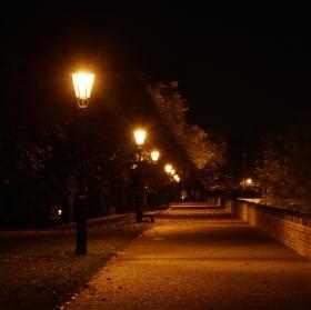 Večerní procházka parkem